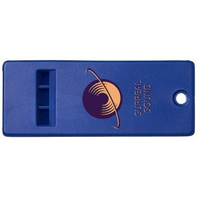 Picture of WANDA FLAT WHISTLE with Large Branding Surface in Blue