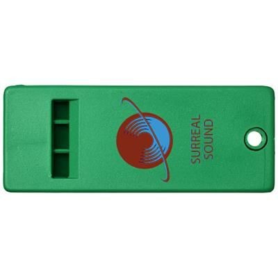 Picture of WANDA FLAT WHISTLE with Large Branding Surface in Green
