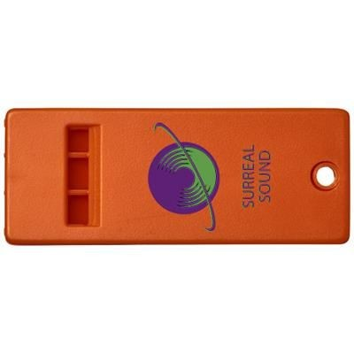 Picture of WANDA FLAT WHISTLE with Large Branding Surface in Orange
