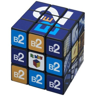 Picture of RUBIKS CUBE® with Branding on All Sides in Black Solid