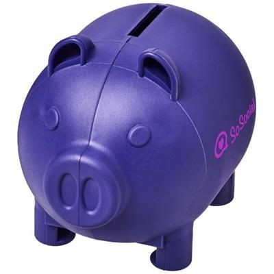 Picture of OINK SMALL PIGGY BANK in Purple