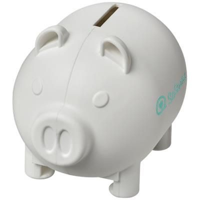 Picture of OINK SMALL PIGGY BANK in White Solid