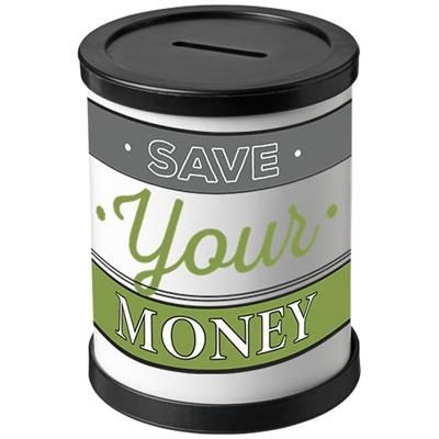 Picture of RAFI ROUND MONEY CONTAINER in Black Solid