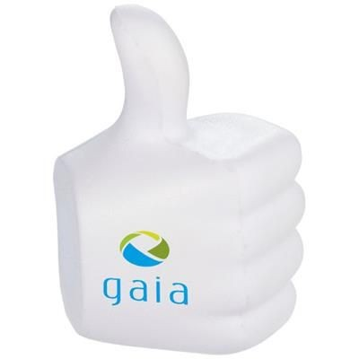 Picture of THUMBS-UP STRESS RELIEVER in White Solid