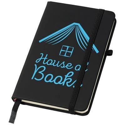 Picture of NOIR A6 NOTE BOOK with Lined Pages in Black Solid