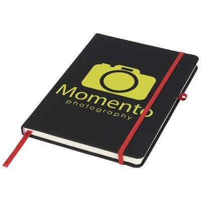 Picture of NOIR MEDIUM NOTE BOOK in Black Solid-red