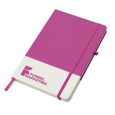 Picture of COLOURS NOTEBOOK-PKWH in Pink-white Solid