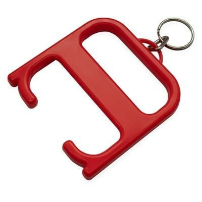 Picture of HYGIENE HANDLE with Keyring Chain in Red