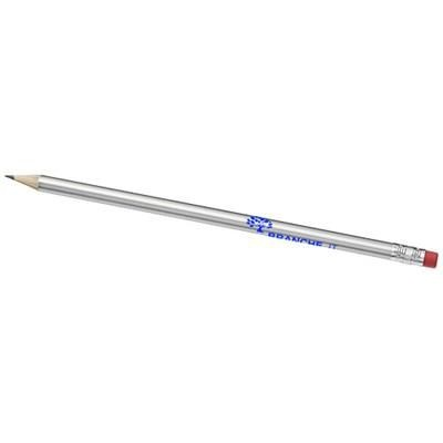Picture of PRICEBUSTER PENCIL with Colour Barrel in Silver
