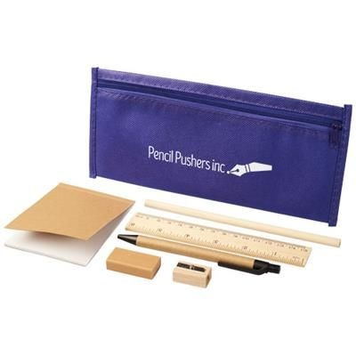 Picture of ENVIRO 7-PIECE ECO PENCIL CASE SET in Purple
