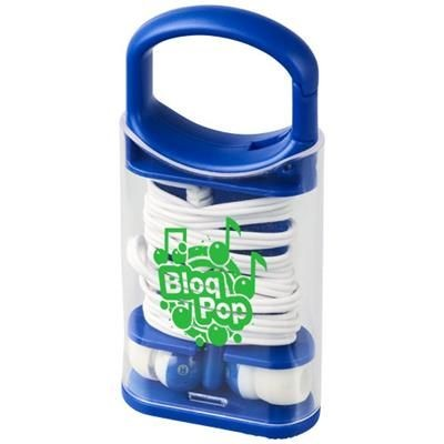 Picture of SNAP EARBUDS with Plastic Carabiner Clip Case in Blue