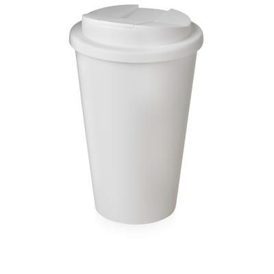 Picture of AMERICANO PURE 350 ML TUMBLER with Spill Proof Lid in White Solid