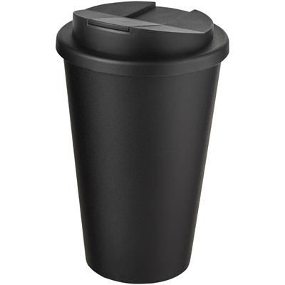 Picture of AMERICANO RECYCLED 350 ML SPILL-PROOF TUMBLER in Black Solid