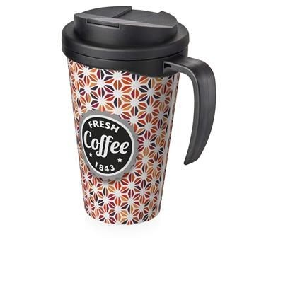 Picture of BRITE-AMERICANO GRANDE 350 ML MUG with Spill-proof Lid in Black Shiny & Black Solid