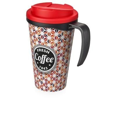 Picture of BRITE-AMERICANO GRANDE 350 ML MUG with Spill-proof Lid in Black Solid & Red