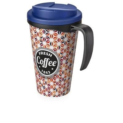 Picture of BRITE-AMERICANO GRANDE 350 ML MUG with Spill-proof Lid in Black Solid & Blue