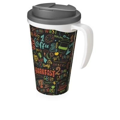 Picture of BRITE-AMERICANO GRANDE 350 ML MUG with Spill-proof Lid in White Solid & Grey