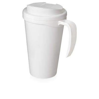 Picture of AMERICANO GRANDE 350 ML MUG with Spill-proof Lid in White Solid