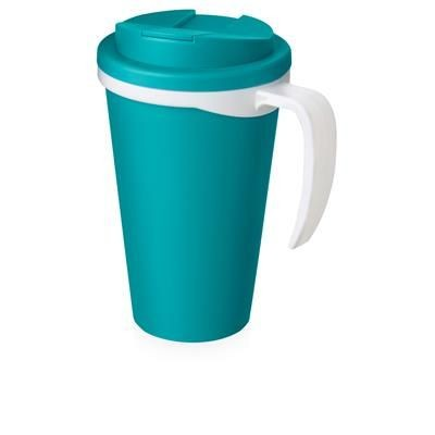 Picture of AMERICANO GRANDE 350 ML MUG with Spill-proof Lid in Aqua