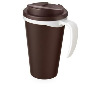 Picture of AMERICANO GRANDE 350 ML MUG with Spill-proof Lid in Brown