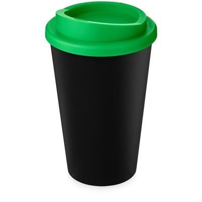 Picture of AMERICANO ECO 350 ML RECYCLED TUMBLER in Black Solid & Green