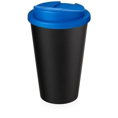 Picture of AMERICANO ECO SPILL PROOF in Mid Blue & Black Solid