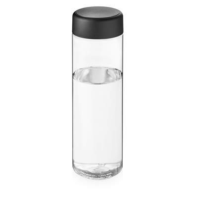 Picture of VIBE SCREW CAP BOTTLE in Transparent & Black Solid
