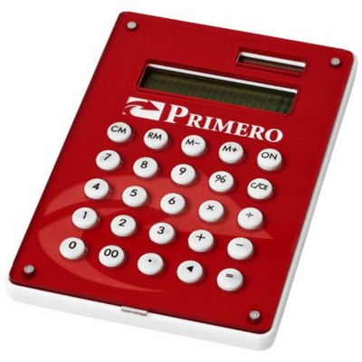 Picture of CYRUS CALCULATOR with Full-colour Branding in White Solid