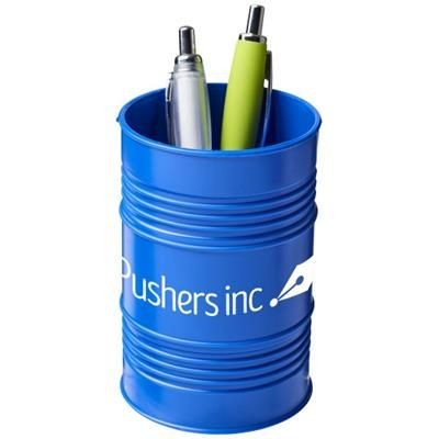 Picture of BARDO OIL DRUM STYLE PLASTIC PEN POT in Blue