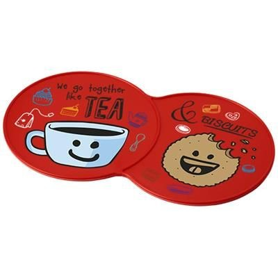 Picture of SIDEKICK PLASTIC COASTER in Red