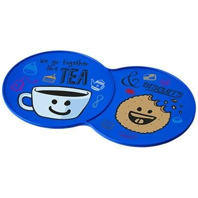 Picture of SIDEKICK PLASTIC COASTER in Blue