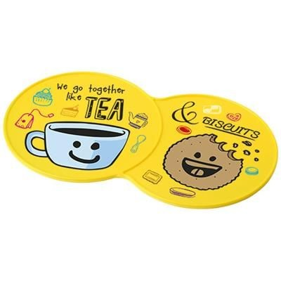 Picture of SIDEKICK PLASTIC COASTER in Yellow
