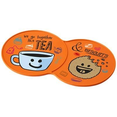 Picture of SIDEKICK PLASTIC COASTER in Orange