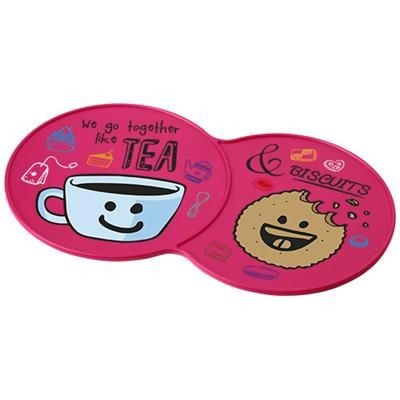 Picture of SIDEKICK PLASTIC COASTER in Pink