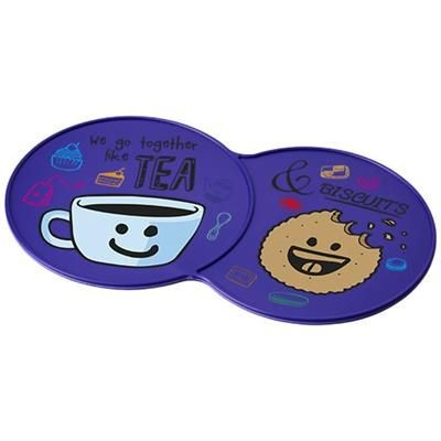Picture of SIDEKICK PLASTIC COASTER in Purple