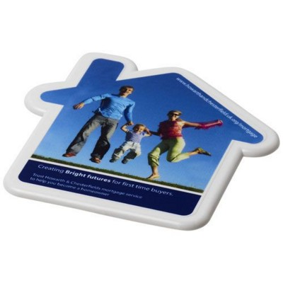 Picture of CAIT HOUSE-SHAPED COASTER in White Solid