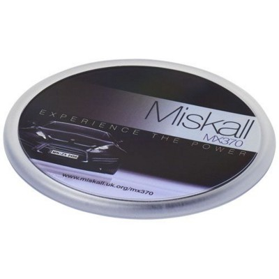 Picture of ELLISON ROUND PLASTIC COASTER with Paper Insert in Transparent Clear Transparent