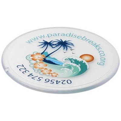 Picture of RENZO ROUND PLASTIC COASTER in Transparent Clear Transparent