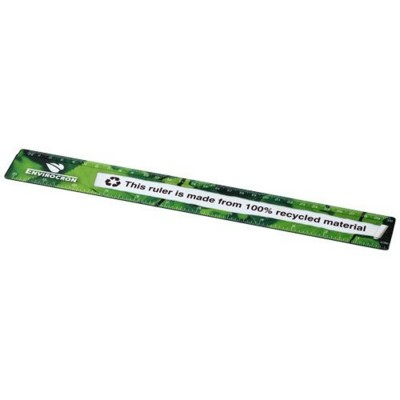 Picture of TERRAN 30 CM RULER FROM 100% RECYCLED PLASTIC in Black Solid