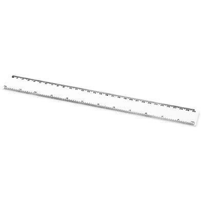 Picture of RENZO 30 CM PLASTIC RULER in White Solid