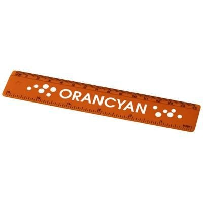 Picture of RENZO 15 CM PLASTIC RULER in Orange
