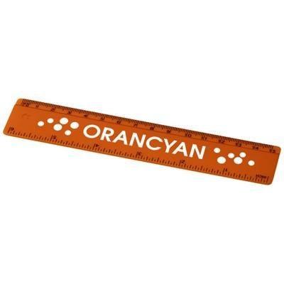 Picture of RENZO 15 CM PLASTIC RULER in Orange