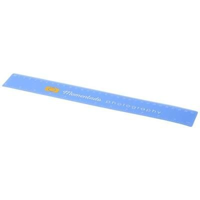 Picture of ROTHKO 30 CM PLASTIC RULER in Frosted Blue