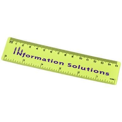 Picture of ROTHKO 15 CM PLASTIC RULER in Lime