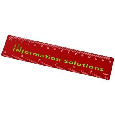 Picture of ROTHKO 15 CM PLASTIC RULER in Red