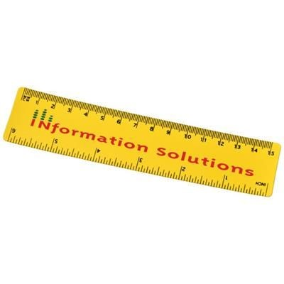 Picture of ROTHKO 15 CM PLASTIC RULER in Yellow