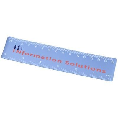Picture of ROTHKO 15 CM PLASTIC RULER in Frosted Blue