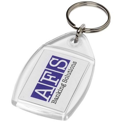 Picture of RHOMBUS P4 KEYRING CHAIN with Plastic Clip in Transparent Clear Transparent