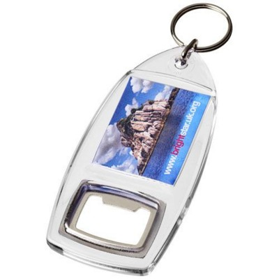 Picture of JIBE R1 BOTTLE OPENER KEYRING CHAIN in Transparent Clear Transparent