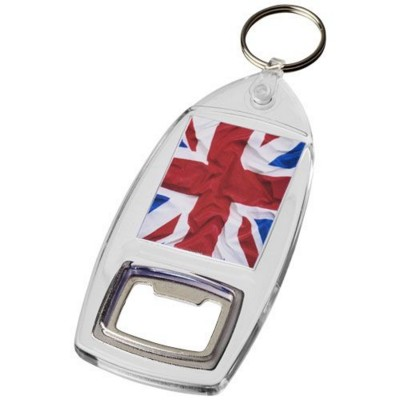 Picture of KAI R6 KEYRING CHAIN with Bottle Opener in Transparent Clear Transparent